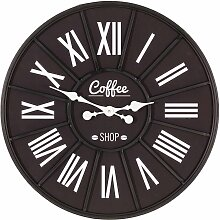 Wanduhr Coffee Shop 70cm, 70×4×70cm