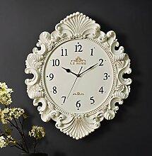 Wanduhr Continental kreative Art deco Wanduhr modische individuell Salon clock Quartz Wanduhr, Meter des weißen Goldes
