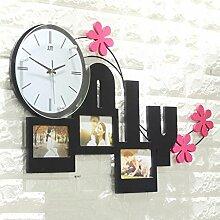 Wanduhr Creative Frame Mute Fashion Art Schlafzimmer Dekoration , 1