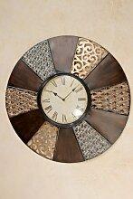 Wanduhr D76cm Metall Uhr Landhausstil