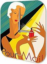 Wanduhr Drogerie Markt Deko Parfüm Frau Dekouhr Vintage