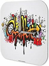 Wanduhr Esoterik Graffiti Deko Acryl Uhr Vintage Retro