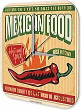 Wanduhr Essen Restaurant Deko Mexikanisches Essen Dekouhr Nostalgie
