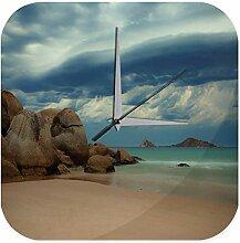 Wanduhr Feng Shui Bild Felsenmeer Wasser Wolken