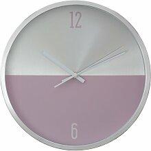 Wanduhr Fletcher Norden Home Farbe: Silber/Rosa