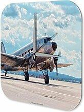Wanduhr Flugzeug Flughafen Propellerflugzeug Wand Deko Acryl Uhr