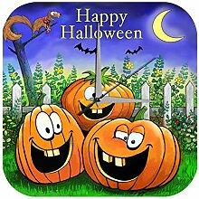 Wanduhr Fun Küchen Deko Happy Halloween lachende