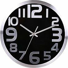 Wanduhr Geräuschlos, Likeluk 12 Zoll(30cm) Modern Quartz Lautlos Wanduhr Schleichende Sekunde ohne Ticken