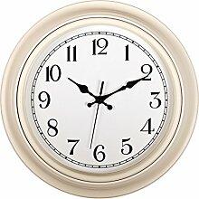 Wanduhr Geräuschlos, Likeluk 14 Zoll (35cm) Modern Quartz Lautlos Wanduhr Schleichende Sekunde ohne Ticken