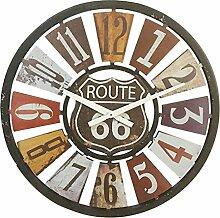 Wanduhr Groß xxl, Likeluk 15 Zoll(40cm) Lautlos Vintage Wanduhr Holz Uhr Ohne Ticken