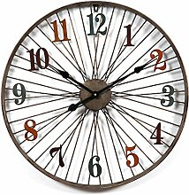 Wanduhr Groß xxl, Likeluk 23,5 Zoll(60cm) Retro Lautlos Wanduhr Uhr Wohnzimmer Wall Clock Uhr Ohne Ticken