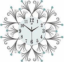 Wanduhr Großes Wohnzimmer Schlafzimmer Mute Clock Europäische Moderne Einfache Haus Quartz Uhr