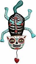 Wanduhr Gruselkatze El Gato Allen Design