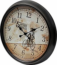 Wanduhr H03, Uhr, Shabby-Look Vintage, Ø62cm