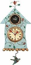 Wanduhr Haus Vogel Fly Bird Clock von Michelle Allen Designs