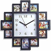 Wanduhr Ideen Bilderrahmen Uhr Kombination