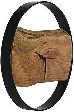 Wanduhr Industrie-Design Holz & Metall VIVENA -