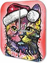 Wanduhr Katze Rasse Katze Weihnachten Acryl Dekouhr Vintage