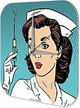 Wanduhr Krankenschwester Wand Deko Acryl Uhr Vintage Nostalgie
