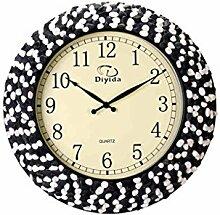 Wanduhr Kreative Garten Wanduhr Wohnzimmer Modernen Minimalistischen Handgefertigten Kiesel Stumm Uhr -Wall clock