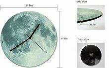 Wanduhr Kreative Kinderzimmer Dekorieren Uhr Leuchtende Mond Acryl Wanduhr