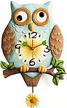 Wanduhr Kreative Silent Harz Eule Uhr für