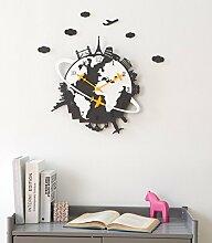 Wanduhr kreatives Wohnzimmer moderne ruhige Haus