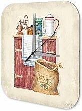 Wanduhr Küchen Uhr Kaffeemühle Kaffeebohnen Schrank Dekouhr Vintage Nostalgie