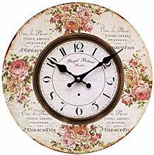 Wanduhr Küchenuhr Rosen bunt Landhaus Vintage (2)