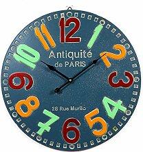Wanduhr Lautlos Design, Likeluk 20 Zoll(51cm) Retro Vintage xxl Wanduhr Uhr Wohnzimmer Wall Clock Uhr Ohne Ticken