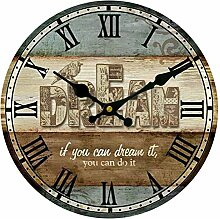 Wanduhr Lautlos, Likeluk 14 Zoll (35CM)Vintage Uhr Wanduhr Quartz Lautlos Wanduhr Schleichende Sekunde ohne Ticken