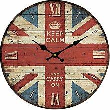 Wanduhr Lautlos, Likeluk 14 Zoll Vintage Uhr Wanduhr Quartz Lautlos Wanduhr Schleichende Sekunde ohne Ticken