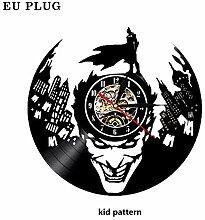 Wanduhr, LED leuchtende Vinyl-Wanduhr mit