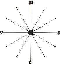 Wanduhr Like Umbrella Chrome, grosse, moderne XXL Dekouhr, schwarz (H/B/T) 100x100x6cm