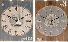 Wanduhr Maritim - Scandi Uhr mit Römischen