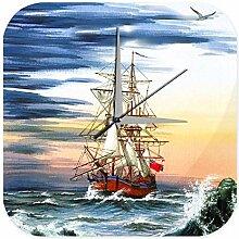 Wanduhr Maritime Deko Segelschiff England alt