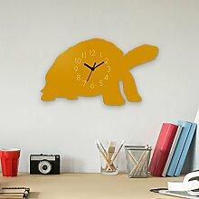 Wanduhr Meeresschildkröte 1-Gelb, Kinderuhr, Uhr für Kinderzimmer