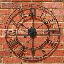 Wanduhr Metall Durchmesser 60cm Landhausstil