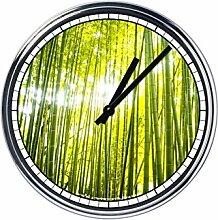 Wanduhr Mit bamboo