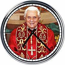 Wanduhr Mit Benedetto XVI (Joseph Ratzinger)