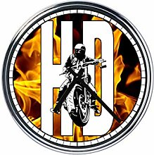 Wanduhr Mit benutzerdefinierte Motorradfahrer