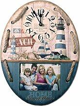 Wanduhr mit Bilderrahmen 39 cm Nostalgie Uhr