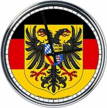 Wanduhr Mit Deutsch Flagge