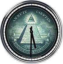 Wanduhr Mit Freimaurer symbol 3