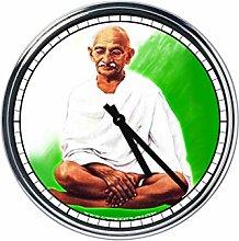 Wanduhr Mit Gandhi 2