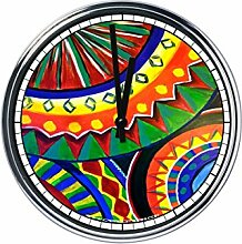 Wanduhr Mit mexikanische Kunst 6