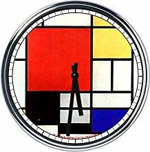 Wanduhr Mit Mondrian