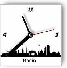 Wanduhr mit Motiv - Silhouette Berlin