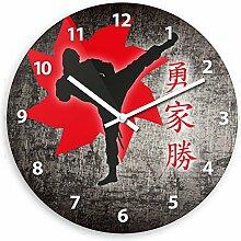 Wanduhr mit Ninja-Motiv für Jungen | Kinderzimmer-Uhr | Kinder-Uhr