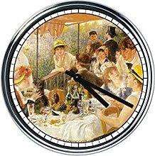 Wanduhr Mit Renoir - Le déjeuner des canotiers